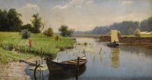 ALEXANDER ALEXANDROVICH KISELEV   Summer Landscape