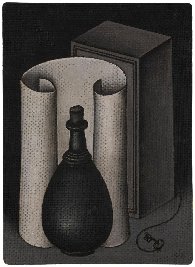 DMITRI KRASNOPEVTSEV | Still Life with Roll of Paper and Vase