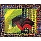 Howard Hodgkin , b. 1932 Asphalt oil on board in artist's frame   , Sir Howard Hodgkin, Click for value