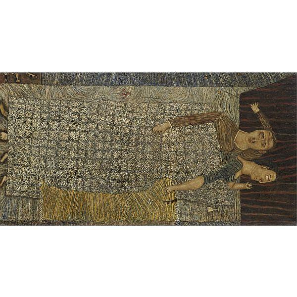 Joseph Glasco , 1925-1996 Sleepers oil on canvas