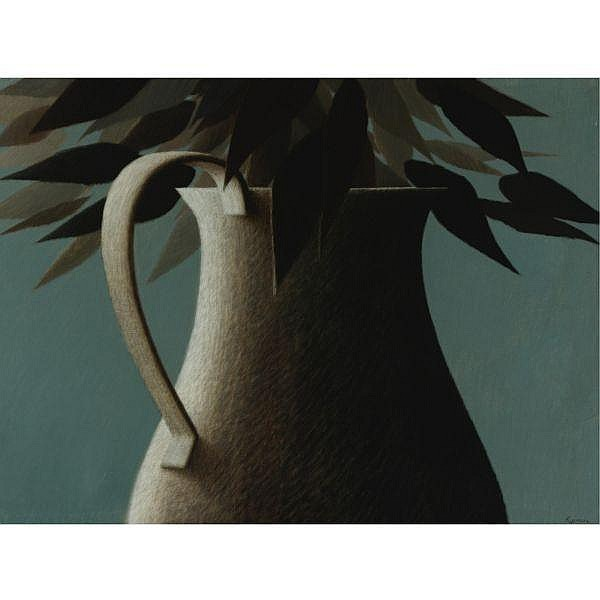 Robert Kipniss , b. 1931 Large vase oil on canvas