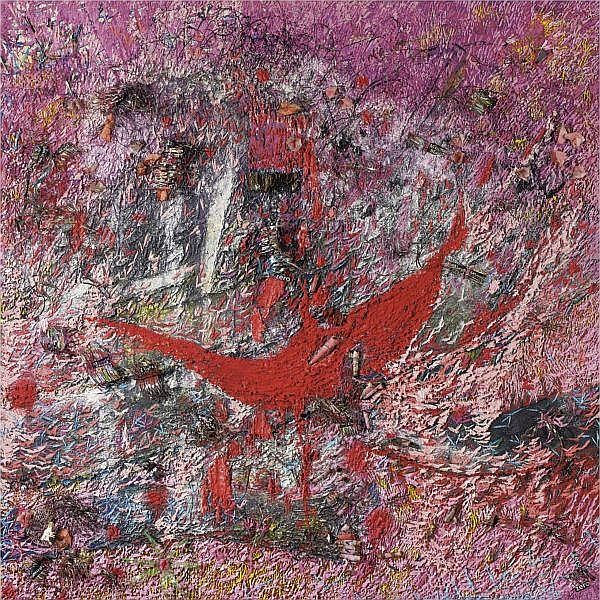 Namhong , b. 1956 La Vie en Rose, La Vie en Recyclage acrylic and mixed media on canvas