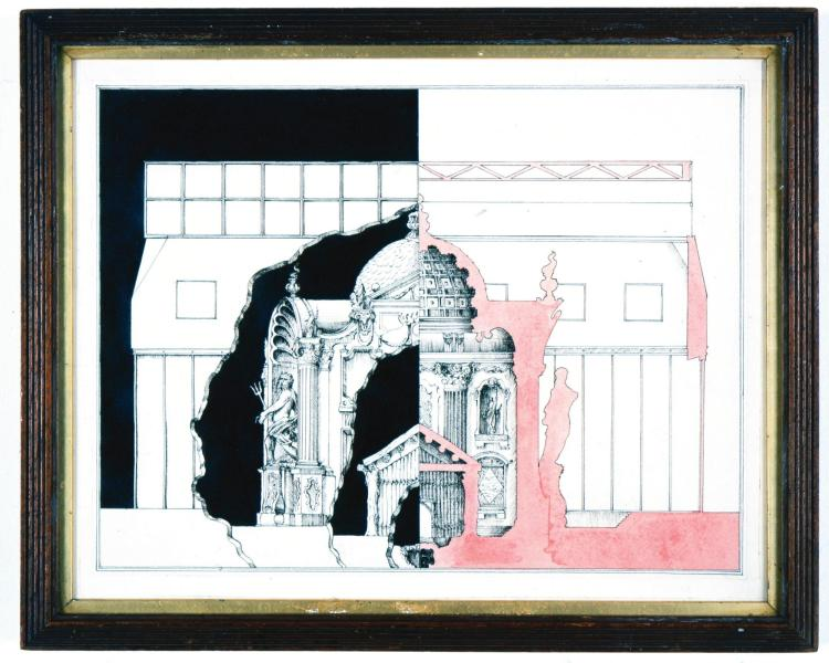 PABLO BRONSTEIN | Elevation And Interior Of Historic Building