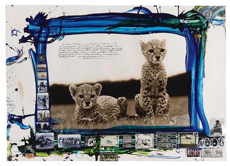 Mweiga Kenya  city photos : Lot 178: PETER BEARD | Orphaned Cheetah Cubs, Mweiga, Kenya