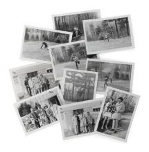 THE BAND. GROUP OF CANDID PHOTOGRAPHS OF THE BAND AT BIG PINK, CIRCA 1967