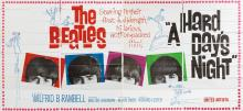THE BEATLES. A HARD DAY'S NIGHT. 24 SHEET POSTER, 1964