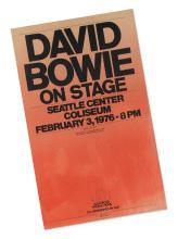 DAVID BOWIE. SEATTLE CENTER COLISEUM CONCERT POSTER, 3 FEBRUARY 1976