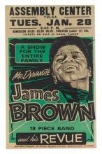 JAMES BROWN. TULSA ASSEMBLY CENTER CONCERT POSTER, 28 JANUARY 1969