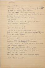 THE WHO — PETE TOWNSHEND. ORIGINAL EARLY WORKING MANUSCRIPT FOR
