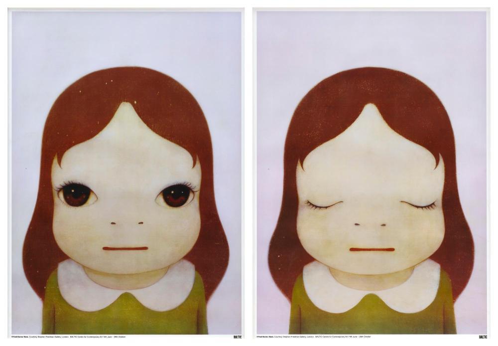 NARA YOSHITOMO | Cosmic Girls: Eyes Opened/ Eyes Closed (Two Works)