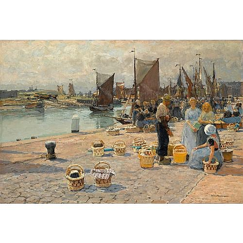 Hans Herrmann German, 1858-1942 , in the harbour of Vlissingen