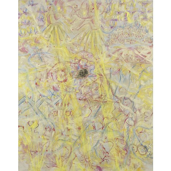 Jutta Koether , Overture to a Poetics of a Body acrylic on canvas, unframed