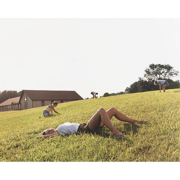 Justine Kurland , Four Leaf Clovers (Lexington, Virginia) satin laminated c-print in wood frame