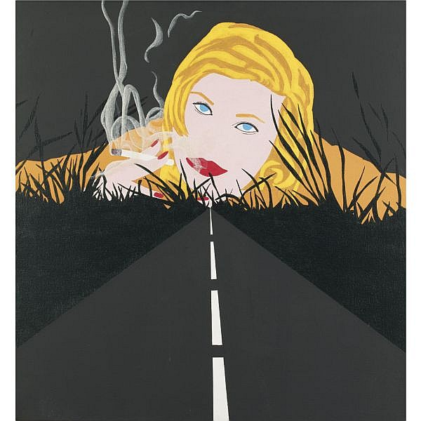 Allan D'Arcangelo , Smoke Dream #2 oil on canvas