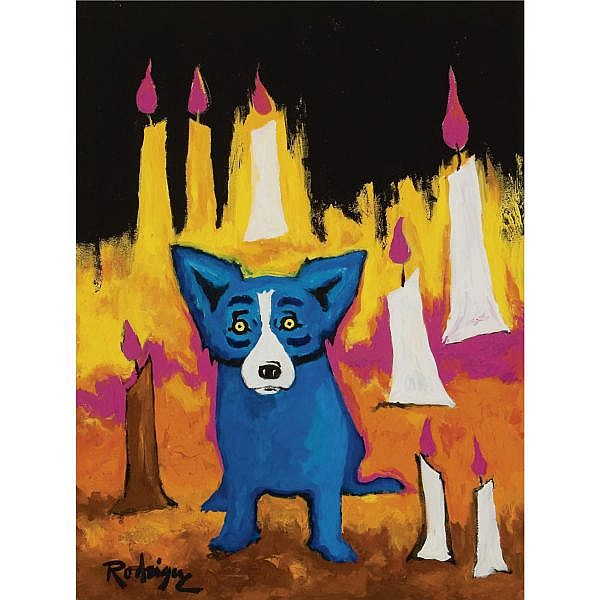 George Rodrigue , The Path of the Candles acrylic and oil on canvas