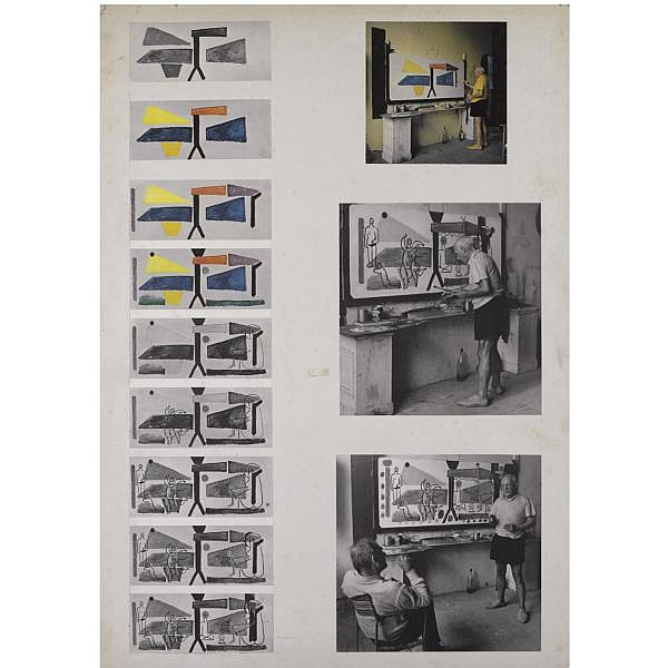 Edward Quinn (1920-1997) , Five story boards by Edward Quinn, depicting Picasso at work, n.d.