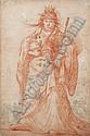 Claude Vignon , Tours 1593 - 1670 Paris   Cléopâtre   Sanguine et pierre noire     , Claude Vignon, Click for value