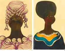 CHRIS OFILI | i. Untitled; ii. Untitled [Two Works]