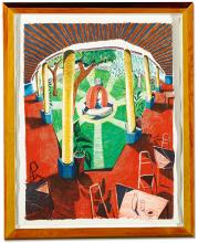 DAVID HOCKNEY | View of Hotel Well III (M.C.A.T. 274)