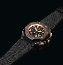 AUDEMARS  PIGUET | A LIMITED EDITION CERAMIC, PINK GOLD AND TITANIUM AUTOMATIC CHRONOGRAPH WRISTWATCH WITH REGISTERS AND DATE<br />NO 0628/1500CASE H19612 ROYAL OAK OFFSHORE ARNOLD SCHWARZENEGGER THE LEGACY CIRCA2010