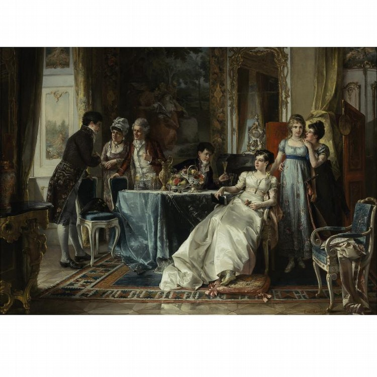 CARL HERPFER GERMAN, 1836-1897 THE SUITOR MEETS HER FAMILY