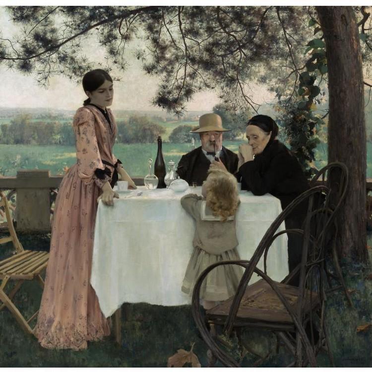JULES-ALEXIS MUENIER FRENCH, 1863-1942 THE BEST DAYS (AUX BEAUX JOURS)