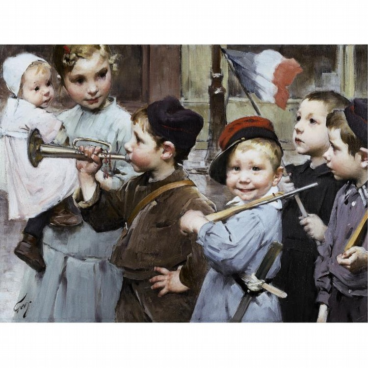 HENRI-JULES-JEAN GEOFFROY FRENCH, 1853-1924 JULY 14TH - BASTILLE DAY