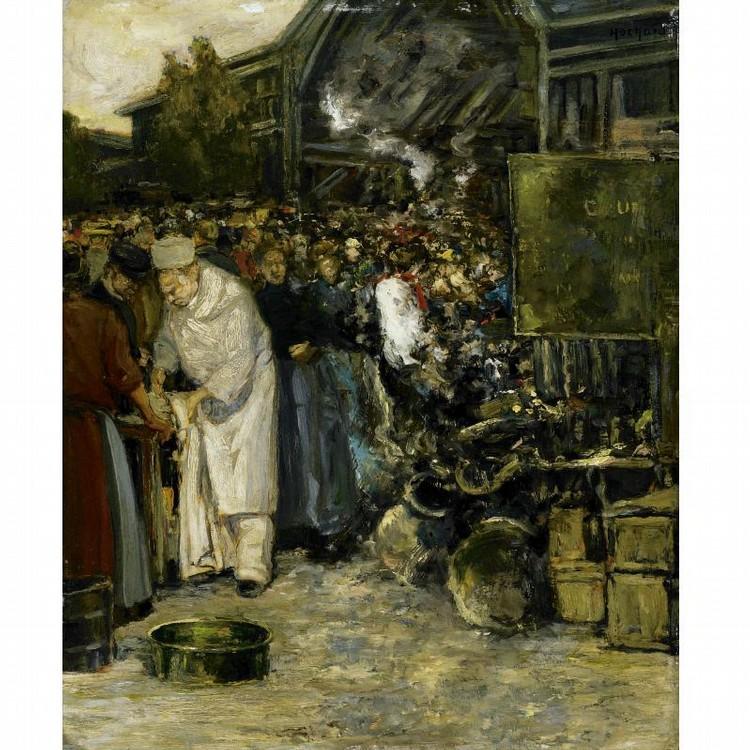 GASTON HOCHARD FRENCH, 1863-1913 AT THE MARKETPLACE