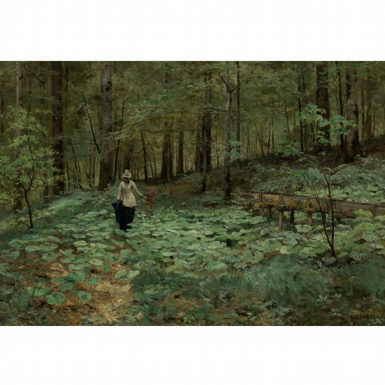 MARIE-VICTOR-ÉMILE ISENBART FRENCH, 1846-1921 WALKING IN THE WOODS