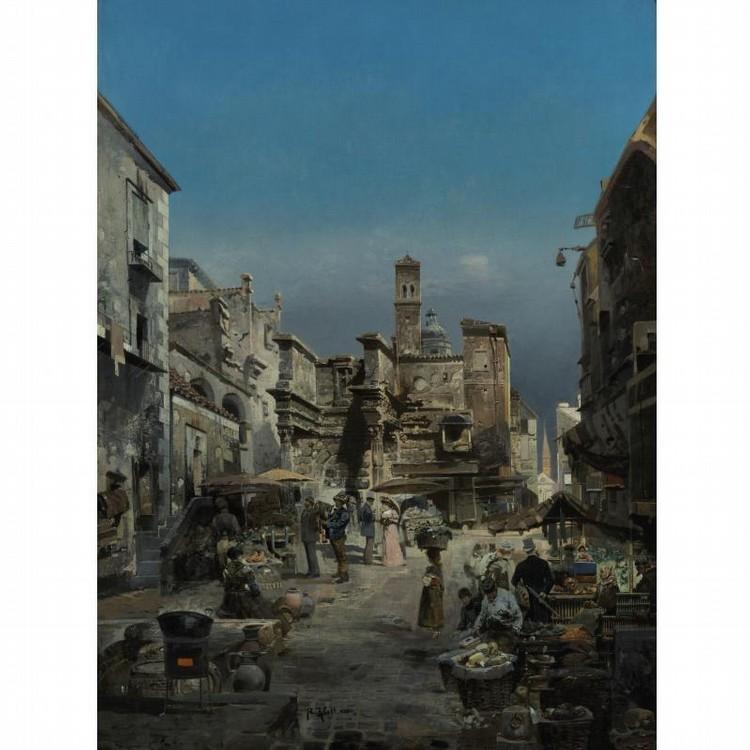 ROBERT ALOTT AUSTRIAN, 1859-1910 A MARKET IN ITALY