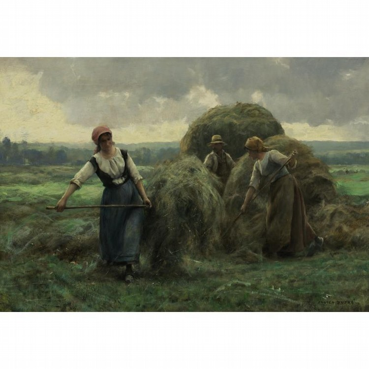 PROPERTY FROM A PRIVATE SOUTHERN COLLECTION JULIEN DUPRÉ FRENCH, 1851-1910 PEASANTS STACKING HAY