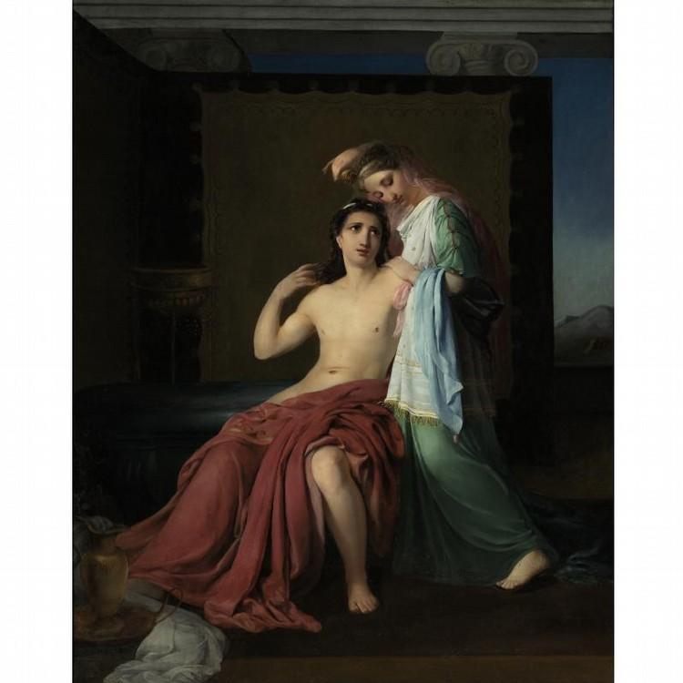 HENRI-JOSEPH DUWEE BELGIAN, 1810-1884 PARIS AND HELEN