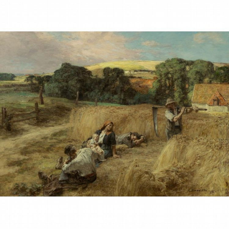 LÉON-AUGUSTIN LHERMITTE FRENCH, 1844-1925 A REST FROM THE HARVEST