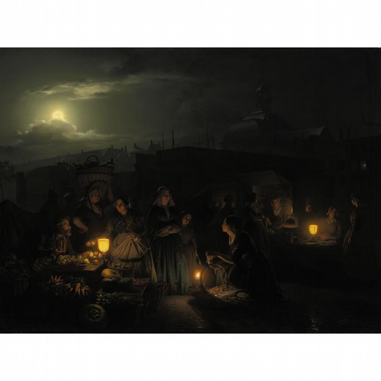 PROPERTY OF A PRIVATE COLLECTOR, NEW YORK PETRUS VAN SCHENDEL BELGIAN, 1806-1870 A NIGHT AT THE