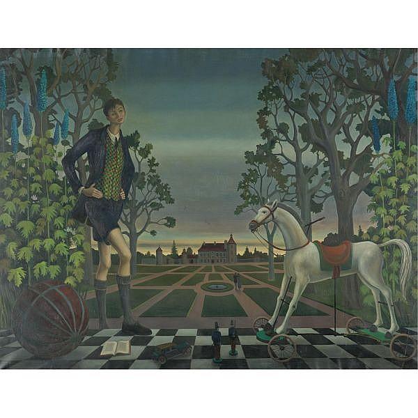 Erich (Ricco) Wassmer 1915-1972 , Le Cheval de Bois Oil on canvas