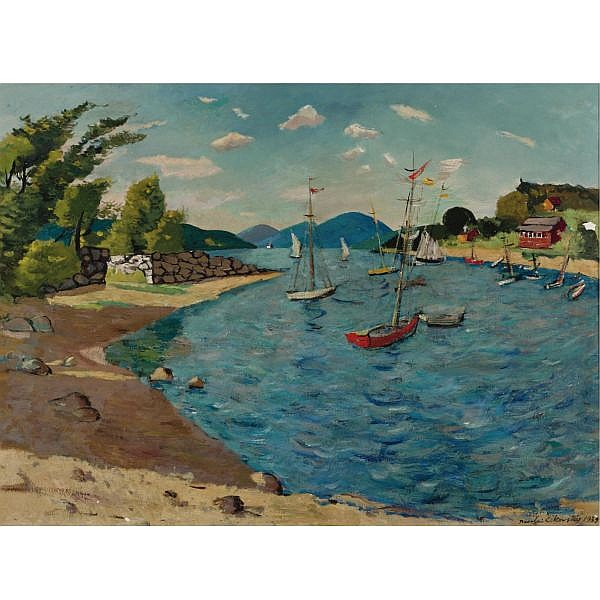 Nicolai Cikovsky 1894-1987 , Candlewood Lake Oil on canvas