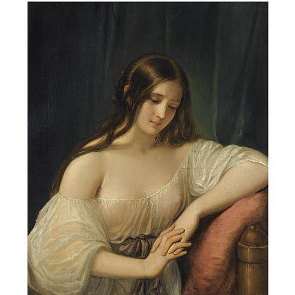 Natale Schiavoni , Italian 1777-1858 portrait of a lady oil on canvas