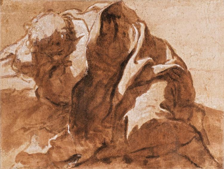SIGISMONDA CAULA | <em>Recto</em>:An Apostle sleeping by a rock<br /><em>verso</em>:Studies of feet