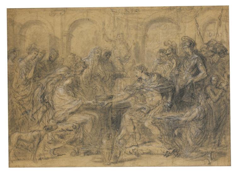 HYACINTHE COLLIN DE VERMONT   The betrothal of Alexander and Roxana