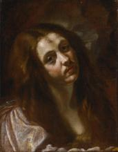 ORAZIO BORGIANNI | A study of a woman, head and shoulders, possibly Saint Mary Magdalene