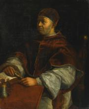 FOLLOWER OF RAPHAEL | Portrait of Pope Leo X