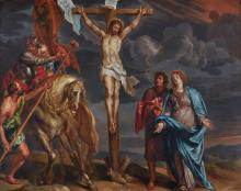 FOLLOWER OF ANTHONY VAN DYCK | The Crucifixion