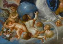 ANTONIO DE PEREDA Y SALDAGO | Putti holding flowers and an orb