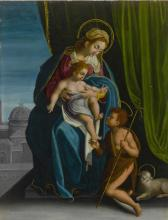 ROMAN SCHOOL, 16TH CENTURY | The Madonna and Child with the Infant Saint John the Baptist