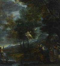 BOLOGNESE SCHOOL, LATE 17TH CENTURY | The flight into Egypt<br />