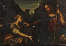 GENOESE SCHOOL, 17TH CENTURY | Christ and Saint Mary Magdalene