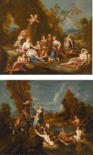 AFTER CHARLES DE LA FOSSE | The Rest of Diana; The Abduction of Proserpine: a pair