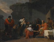 JEAN-FRANÇOIS-PIERRE PEYRON | Belisarius receiving hospitality from a peasant