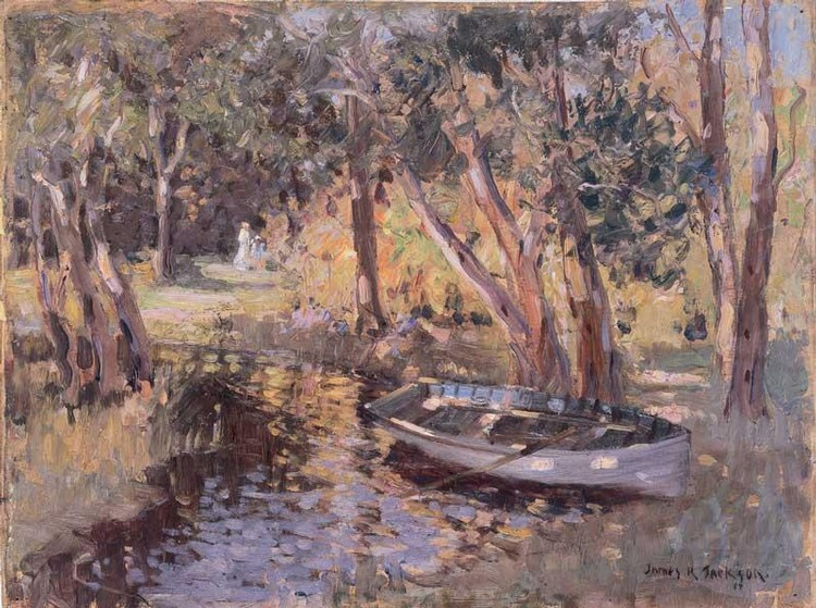 JAMES R. JACKSON 1882-1975 NARABEEN LAKES
