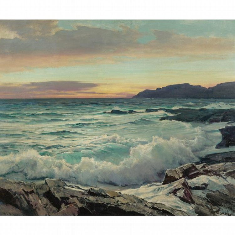 New Jersey Home Painting From J S Painting: Frederick Judd Waugh Artwork For Sale At Online Auction